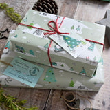 CHRISTMAS GNOME WRAPPING PAPER