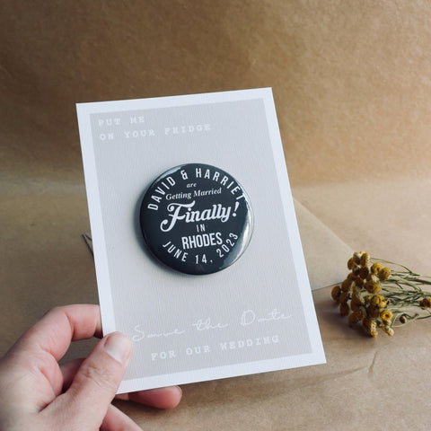 'Finally' Magnetic Save The Date