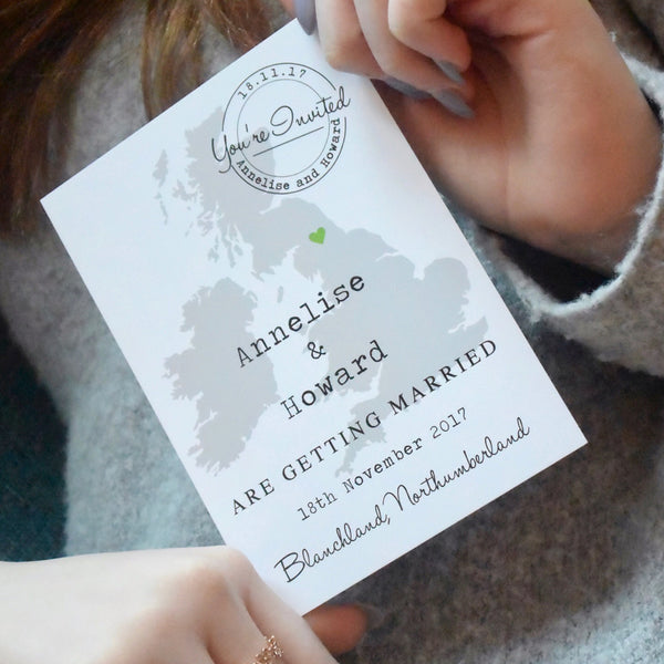 'Annelise' - Location map postcard on white