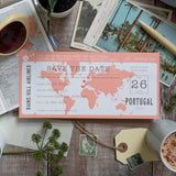 Map Location Boarding Pass Save the Date