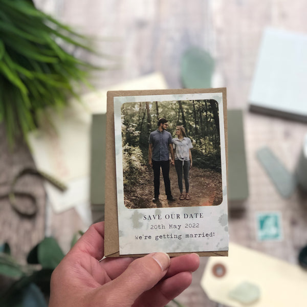 Vintage Polaroid Style Save the Date