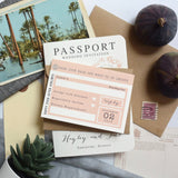 Passport Wedding Invitation - Hayley