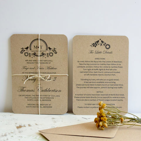 Lovebird Wedding Invitation Bundle