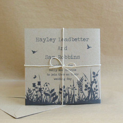 Wildflower Tri-Fold Wedding Invitation