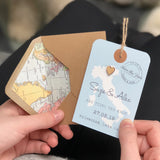 Bespoke Map Luggage Tag