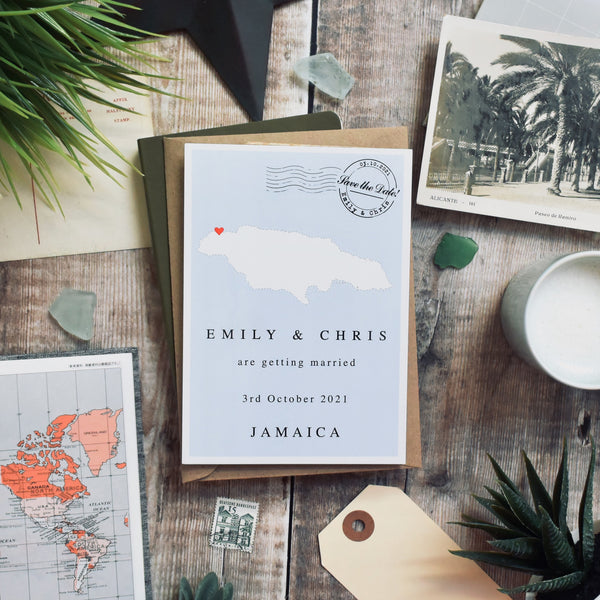 Single Country Save the Date Postcard