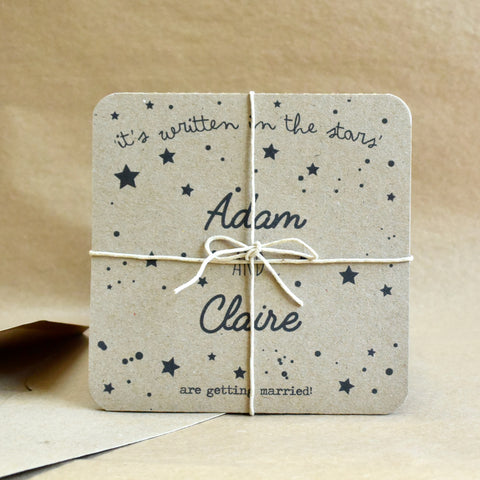It's Written in the Stars Wedding Invitation