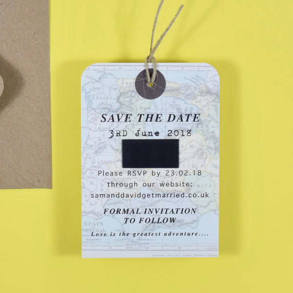 Vintage Style Map Luggage tag