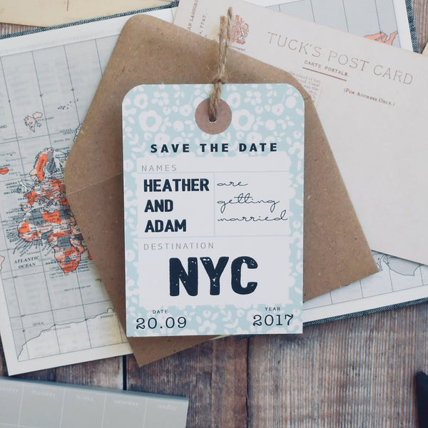 Floral Destination Save the Date