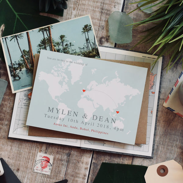 Map Weddding Invitation - Anna
