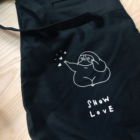 TOTE BAG - SHOW LOVE - BLACK