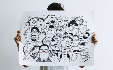 "POSTER PRINT - ""NEW YORK HIPSTERS"""