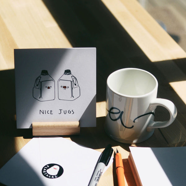 NICE JUGS - GREETING CARD