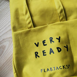 TOTE BAG - FLAB FACE - YELLOW - VERY READY EDITION