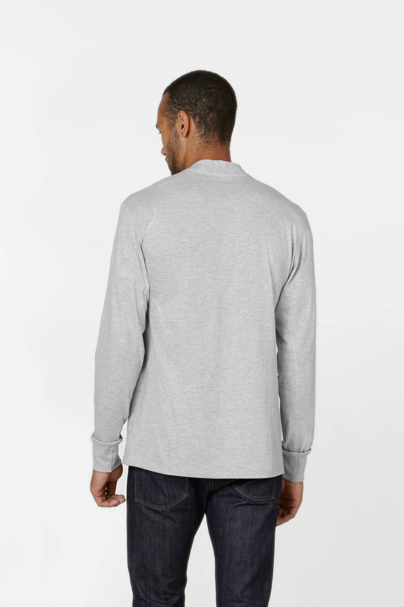 Product Shot of the The Henley in Heather Grey