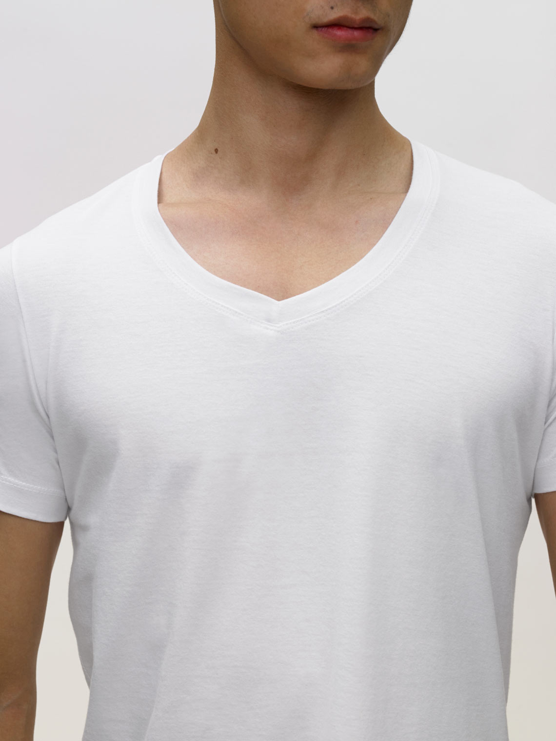 Product Shot of the The V-Neck in White
