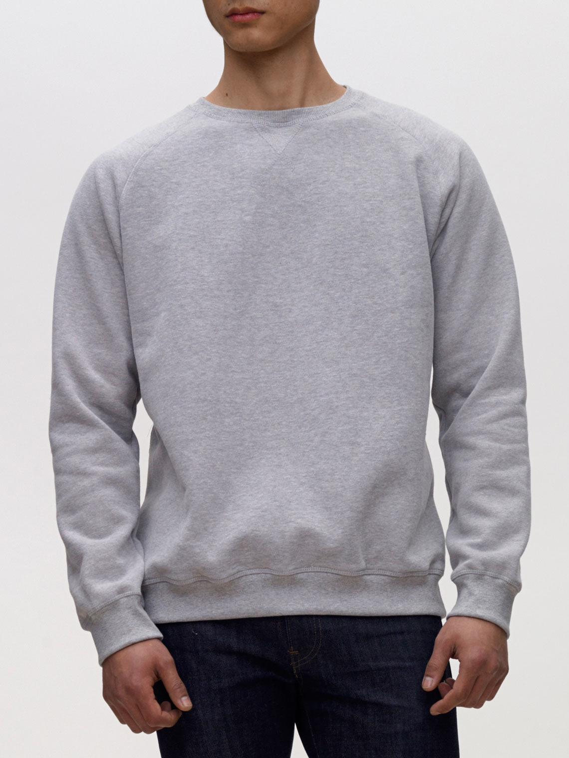 Product Shot of the The Sweatshirt in Heather Grey