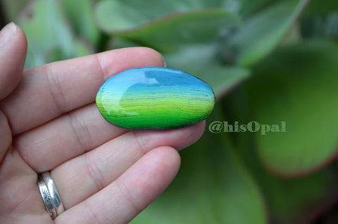 Cute Fridge Magnet, Painted Rock Magnet, Mini Sunset Magnet, Refrigerator Magnet, Kitchen Decor