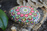 Christmas Mandala Stone, Painted Rock, Prayer Rock, Hand Painted Rock, Christmas Gift