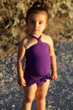 Baby Bathing Suit Solid Purple Wrap Around Swimsuit Toddler Infant Girls Swimwear One Size