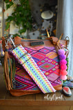Hand Made Purse Strap, Rainbow, Adjustable Strap, 24.5 to 41.5 inches