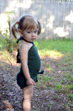 Girls Bathing Suit Army Green Wrap Around Swimsuit Toddler Swimsuit Girls Swimwear One Size Swimsuit - hisOpal Swimwear - 2