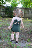 Girls Bathing Suit Army Green Wrap Around Swimsuit Toddler Swimsuit Girls Swimwear One Size Swimsuit - hisOpal Swimwear - 3