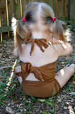 Baby Bathing Suit Copper Wrap Around Swimsuit Unique Baby Girls Swimwear - hisOpal Swimwear - 5