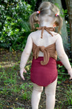 Baby Bathing Suit Copper Gold Flecked w/ Burgundy One Wrap Girls Swimsuit Baby Girls Swimwear - hisOpal Swimwear - 3