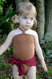 Baby Bathing Suit Copper Gold Flecked w/ Burgundy One Wrap Girls Swimsuit Baby Girls Swimwear - hisOpal Swimwear - 2