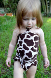 Girls Swimwear Baby Bathing Suit Giraffe Print Wrap Around Swimsuit Animal Print Toddler Swimwear - hisOpal Swimwear - 4