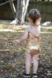 Girls Swimsuit One Wrap Baby Bathing Suit Gold Wrap Around Swimsuit Newborn Toddler - hisOpal Swimwear - 2