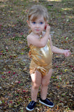 Girls Swimsuit One Wrap Baby Bathing Suit Gold Wrap Around Swimsuit Newborn Toddler - hisOpal Swimwear - 6