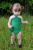 Baby Bathing Suit Kelly Green Wrap Around Swimsuit Tie On Swimsuit Infant Bathing Suit Baby Fashion - hisOpal Swimwear - 1
