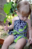 Girls Bathing Suit Neon Green & Black Floral Print Wrap Around Bikini One Size Swimwear Infant - hisOpal Swimwear - 2