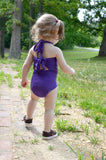Baby Bathing Suit Solid Purple Wrap Around Swimsuit Toddler Infant Girls Swimwear One Size - hisOpal Swimwear - 5