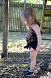 Girls Bathing Suit Black Floral Print Baby Body Suit One Size Swimwear Infant Swim Suit One Wrap - hisOpal Swimwear - 4