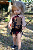 Girls Bathing Suit Black Floral Print Baby Body Suit One Size Swimwear Infant Swim Suit One Wrap - hisOpal Swimwear - 2