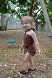 Baby Bathing Suit Brown Paisley Print Wrap Around Swimsuit to fit Newborn Girls to Toddler 3