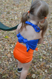 Baby Bathing Suit Florida Gators Wrap Around Swimsuit Toddler Girls Swimwear - hisOpal Swimwear - 2