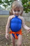 Baby Bathing Suit Florida Gators Wrap Around Swimsuit Toddler Girls Swimwear - hisOpal Swimwear - 1