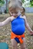 Baby Bathing Suit Florida Gators Wrap Around Swimsuit Toddler Girls Swimwear - hisOpal Swimwear - 4