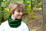 Infinity Scarf Hunter Green Lightweight Layering Fashion Accessories Women's Ascot Unisex - hisOpal Swimwear - 2