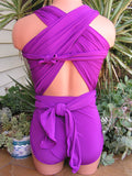 Extra Large Bathing Suit Light Purple Wrap Around Swimsuit Plus Size Swimwear One Wrap XL hisOpal - hisOpal Swimwear - 3