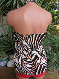 Sarong Beach Cover Up Zebra Animal Print Scarf Shawl Swimsuit Cover Up Tie On Shirt Wrap Skirt - hisOpal Swimwear - 2