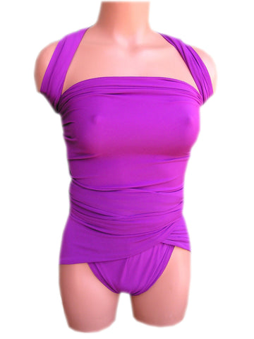 Extra Large Bathing Suit Light Purple Wrap Around Swimsuit Plus Size Swimwear One Wrap XL hisOpal