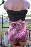 Medium Bathing Suit One Wrap Swimsuit Pink Snakeskin w/ Chocolate Brown Southwestern Swimwear - hisOpal Swimwear - 5