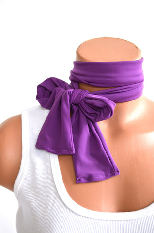 Light Purple Scarf Neck Tie Lightweight Layering Fashion Accessories Lavender Hair Bow Neck Bow