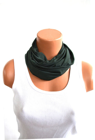 Infinity Scarf Army Green Lightweight Layering Fashion Accessories Women's Ascot