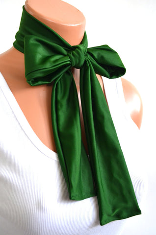 Hunter Green Scarf Women's Neck Tie Lightweight Layering Fashion Accessories Hair Tie Sash Belt